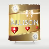 allison argent Shower Curtains featuring Allison 01 by Daftblue