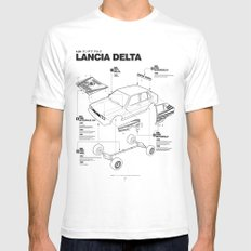 Lancia Delta History Model Kit in the WRC MEDIUM White Mens Fitted Tee