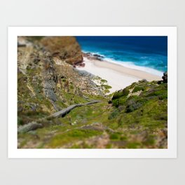 down the beach path Art Print