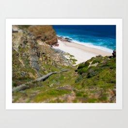 down the beach path Art Print