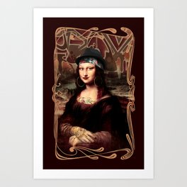 Chicana Mona Lisa Art Print