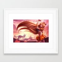 sailor venus Framed Art Prints featuring Sailor Venus by Gladzy Kei