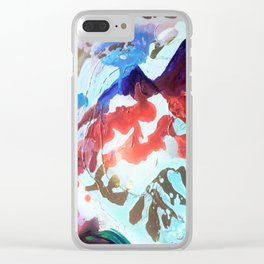 For purple mountain majesties Clear iPhone Case