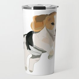 Beagle Art, beagle puppy, digital painting Travel Mug