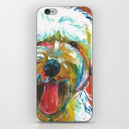Soft-Coated Wheaten Terrier // Colorful  iPhone Skin