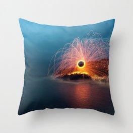 Sparking into the Sea Throw Pillow