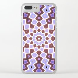 Purple Pink Clear iPhone Case