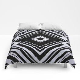 Black and White Tribal Pattern Diamond Shapes Geometric Geometry Contrast I Comforters