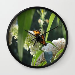 Small Tortoiseshell Butterfly Wall Clock