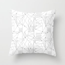 LINES OF CONFUSION Throw Pillow