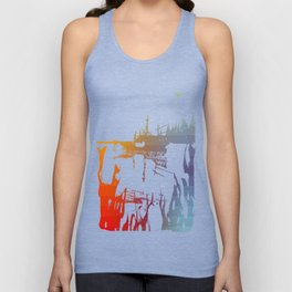 Colored Stripes and Such Unisex Tank Top