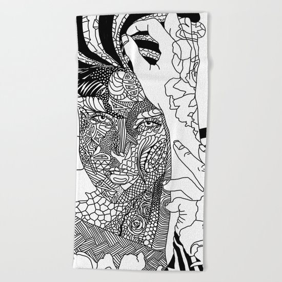 Inked Parisian Beach Towel