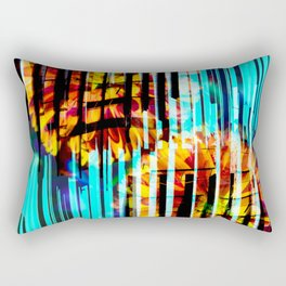 Floral Keys [orange+blue] Rectangular Pillow