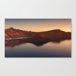 Sunrise over Wizard Island and Crater Lake. Canvas Print