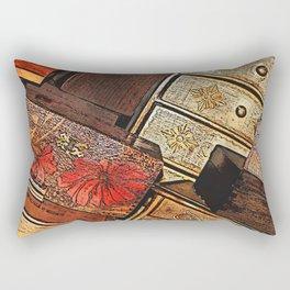 Tilted Wooden Boxes Rectangular Pillow