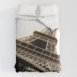 Eiffel Tower Material Comforters