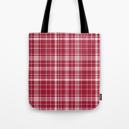 Bama crimson tide college state pattern print university of alabama varsity alumni gifts plaid Tote Bag