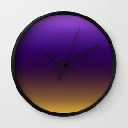 Ombre Flower Wall Clock