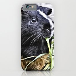 Painted Guinea Pig 3 iPhone Case