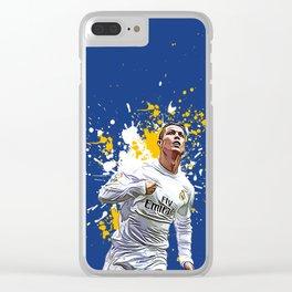 Cristiano Ronaldo Art Work Clear iPhone Case