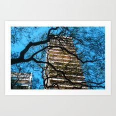 Building and Trees Art Print