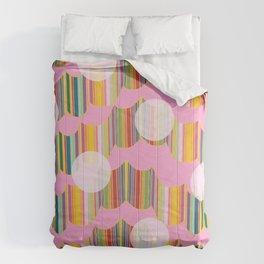 New Wavey Pink Polka Comforters