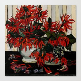 """Coral Flowers"" by Australian Artist Margaret Preston Canvas Print"