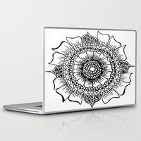 henna Laptop & iPad Skins featuring Flower henna  by Designs by NN