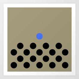 lonely poka dot. blue Art Print