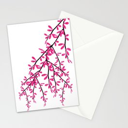 Pink Tree Branch Stationery Cards