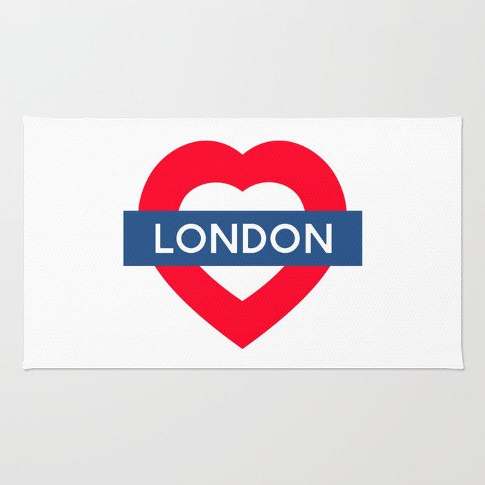 London Underground - Heart Rug