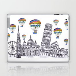 Travel with Air Balloons Laptop & iPad Skin