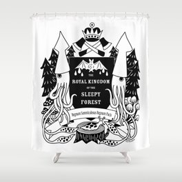 The Royal Kingdom of the Sleepy Forest Shower Curtain