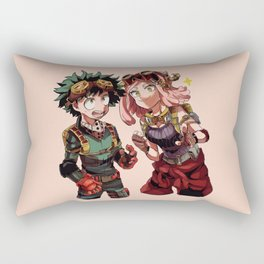 Midoriya with Uraraka loveable4 Rectangular Pillow