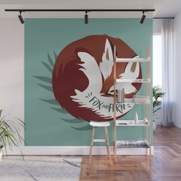 Fickle the Fox Wall Mural