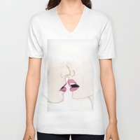 passion V-neck T-shirts featuring Passion by Christopher DeSapio
