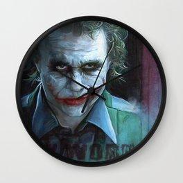 Heath Ledger (the joker) Wall Clock