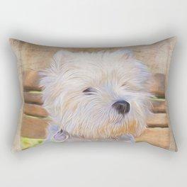 Dog Art - Just One Look Rectangular Pillow