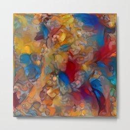 Multicolor Sting Female Silouette Metal Print