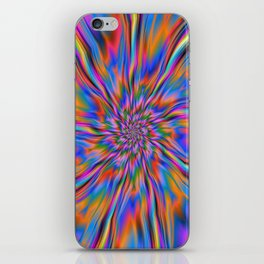 Combustion of Blue Pink and Orange iPhone Skin