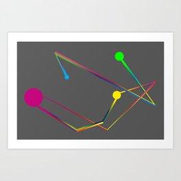 Lines and circles Art Print