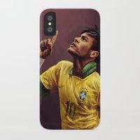 neymar iPhone & iPod Cases featuring Neymar Jr. by apfelgriebs