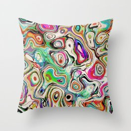 Abstract Blend of Colors Throw Pillow