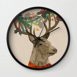 Christmas Deer Wall Clock