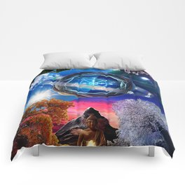 X . The Wheel Tarot Card Illustration Comforters