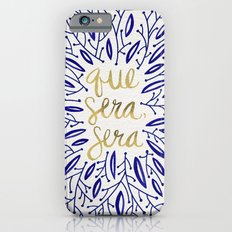 Whatever Will Be, Will Be – Navy & Gold iPhone 6 Slim Case