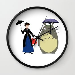 Mary Poppin and umbrela Wall Clock