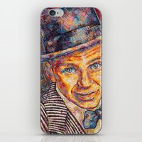 frank sinatra iPhone & iPod Skins featuring Frank Sinatra  by Sara Elyse Lehtman