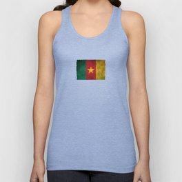 Old and Worn Distressed Vintage Flag of Cameroon Unisex Tank Top