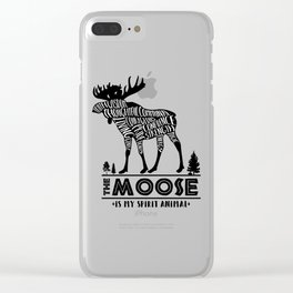 Spirit Animals: The Moose Clear iPhone Case